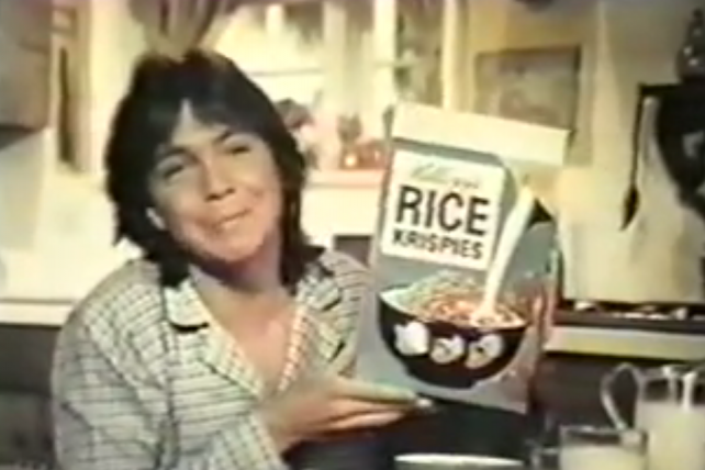 Remembering David Cassidy as 'Sleepy Keith,' Rice Krispies Endorser