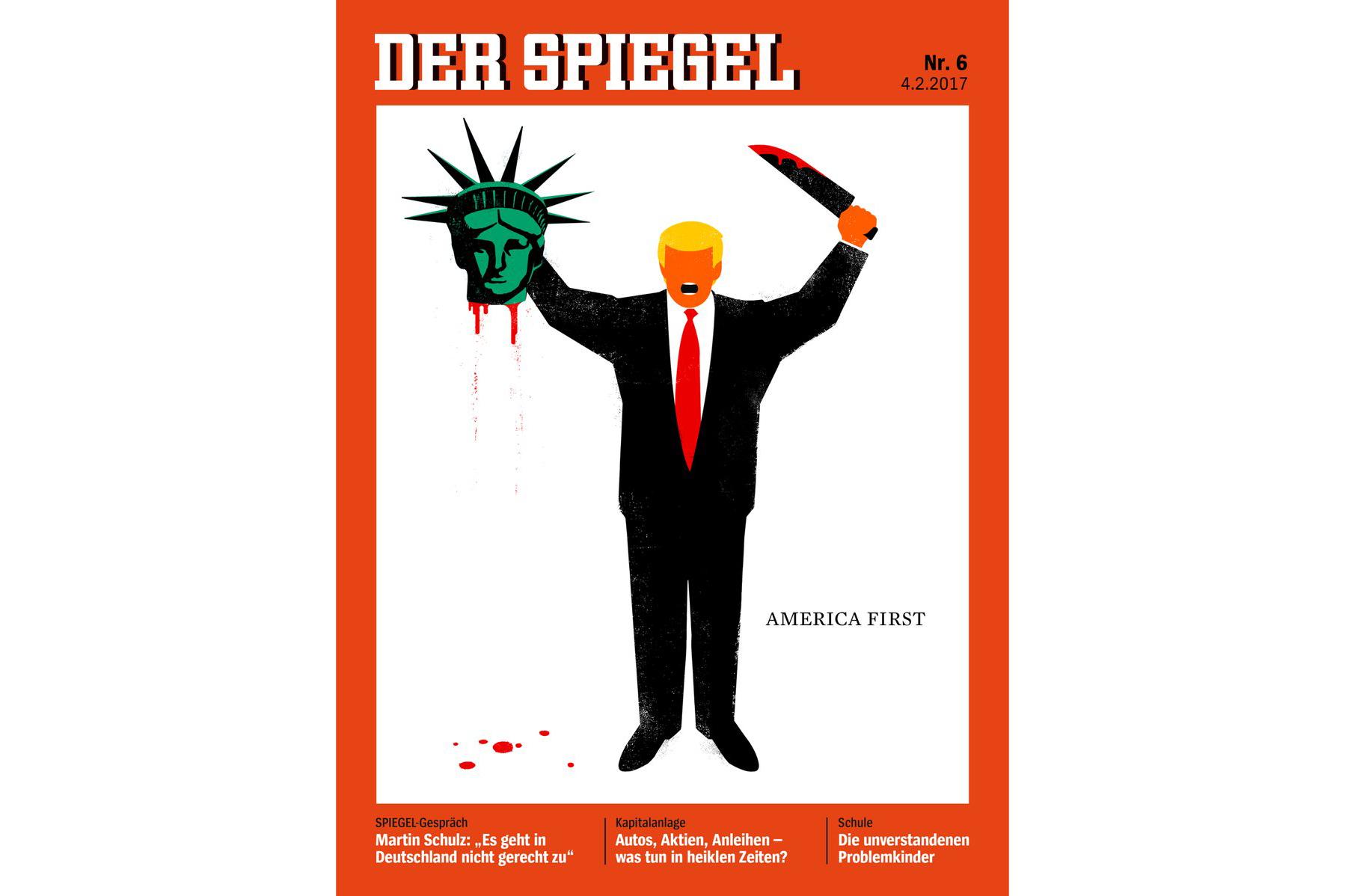 Trump Der Spiegel cover