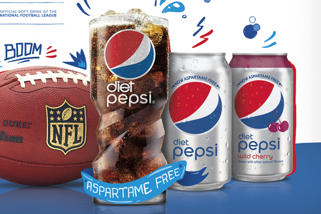 Diet Pepsi's Playbook for Aspartame-Free Launch Includes NFL