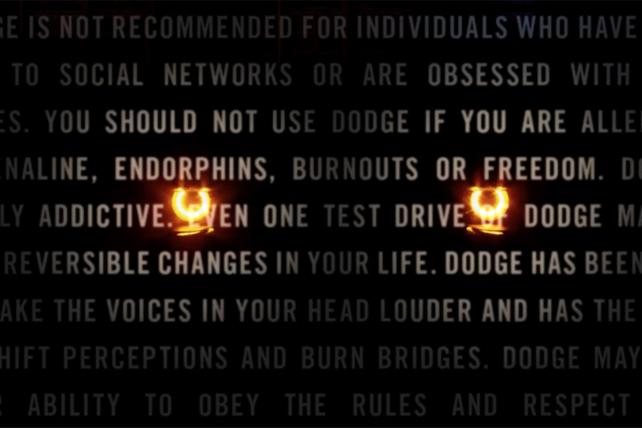 Car or Drug? Dodge Campaign Includes Pharma-Like Warnings