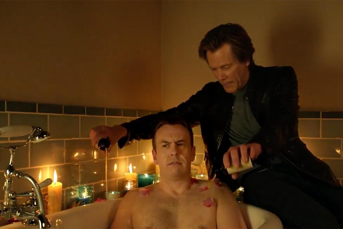 Kevin Bacon Makes Bathtime Better