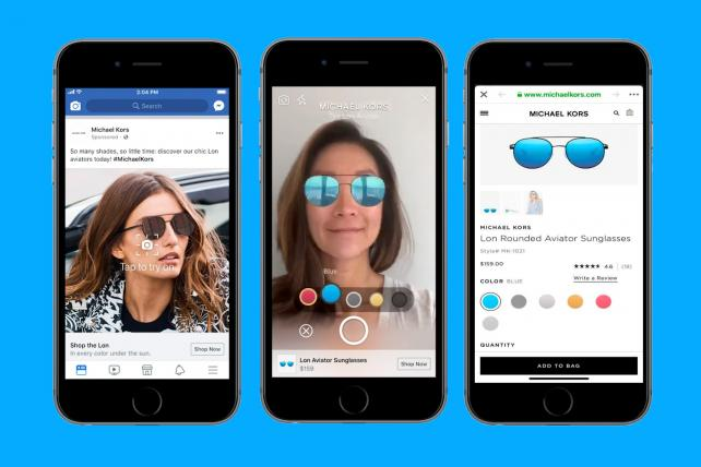 Facebook tries selfie commerce with augmented reality ads
