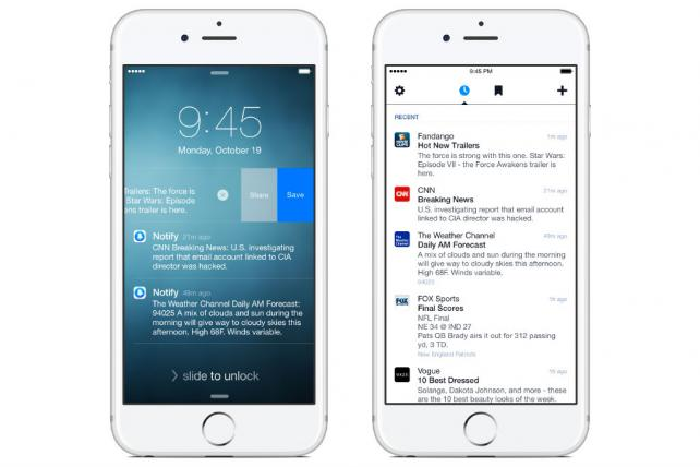 Facebook Introduces Notify, a News App Designed to Make Your Other Notifications Obsolete