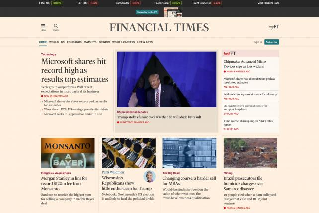 Many Ad-Blocking Readers Agree to See Ads When The Financial Times Asks