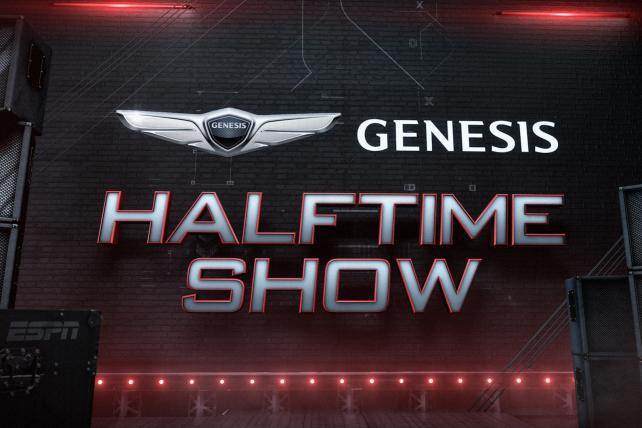 ESPN, Genesis duet in a tuneful new halftime show