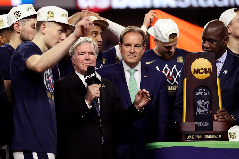 NCAA college basketball TV ratings CBS Nielsen UVA Texas Tech