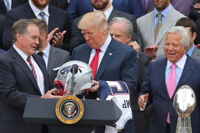 With NFL ratings on the rise, Trump is denied a punching bag