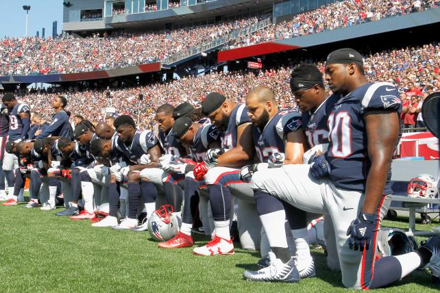 On Nation's Biggest Stage, NFL Players Support Equality — And Protest a President