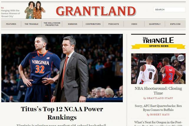 ESPN's Grantland Earns Three National Magazine Award Nominations