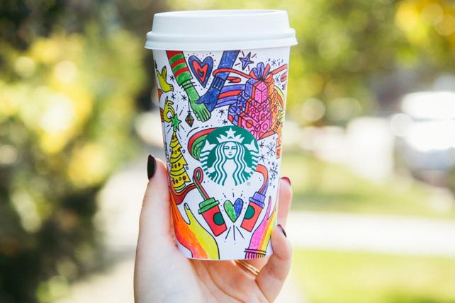 Starbucks Holiday Cups Are Meant for Coloring