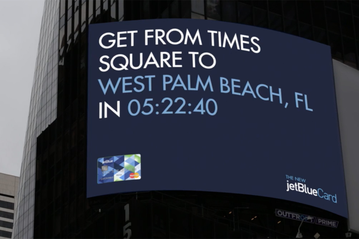 JetBlue Card Dyamic Billboard