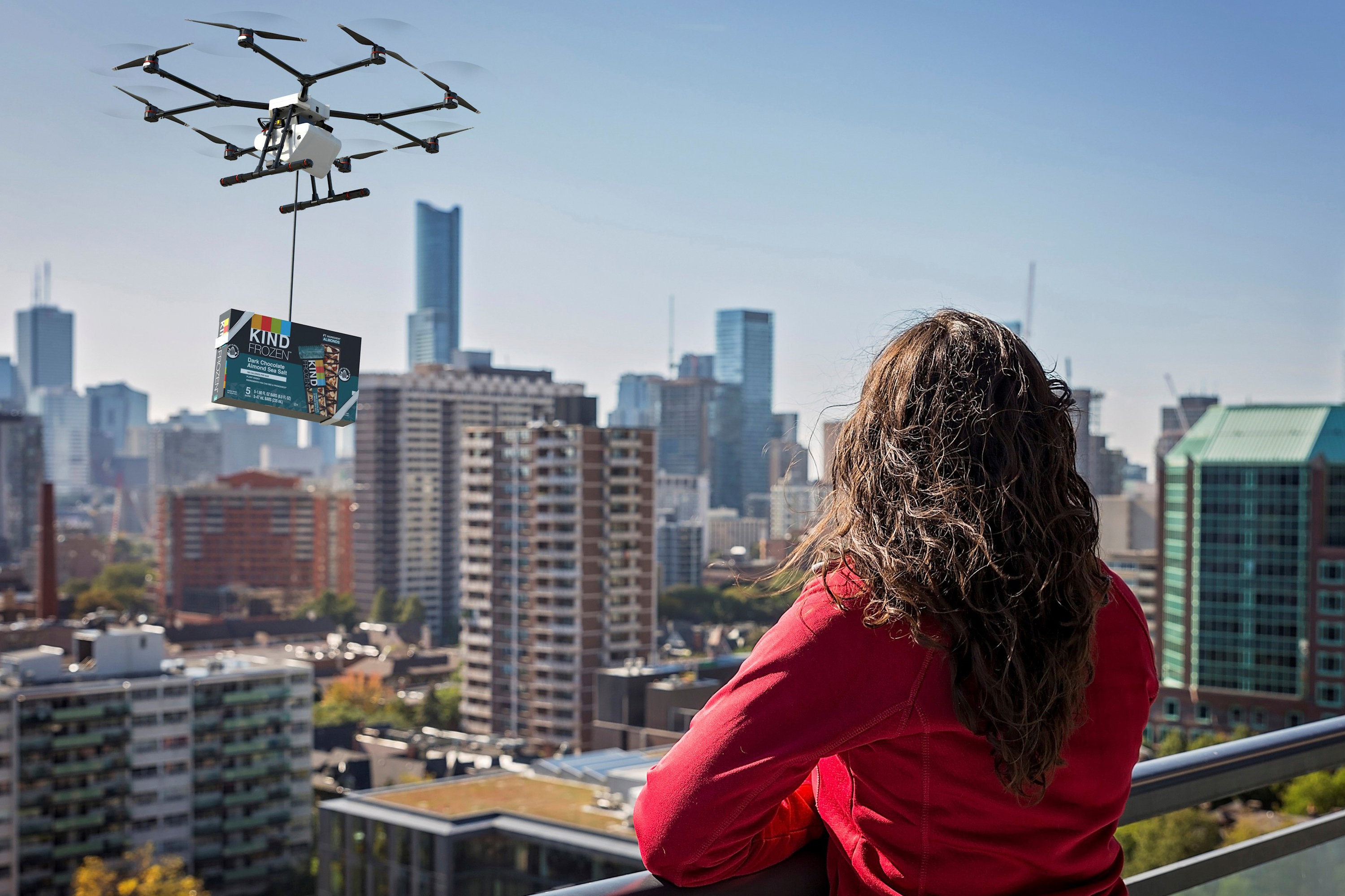 Kind pivots from in-person sampling to delivery by balloon, bird and drone