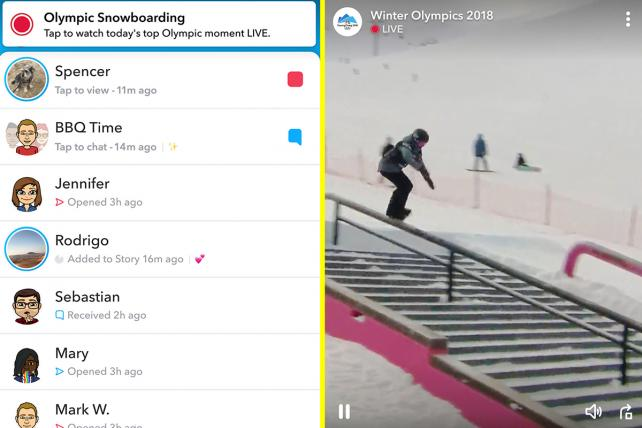 Snapchat Rolls Out New Live Format Just for NBC's Olympics