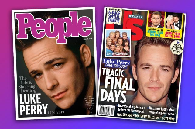 Luke Perry tributes hit newsstands, Jason Priestley says 'Goodnight Sweet Prince'