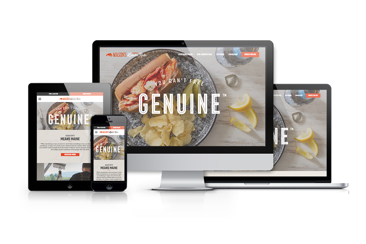 Mason's Famous Lobster Rolls: Website Redesign