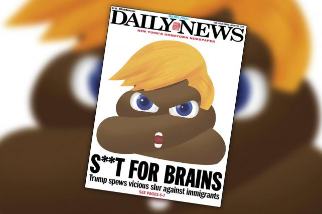 The Daily News' Trump S***holegate Cover Is Super Shitty