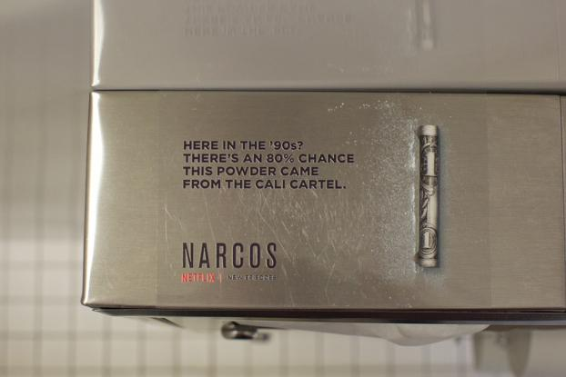 Netflix Drops 'Lines' of Coke in Bathrooms to Promote 'Narcos