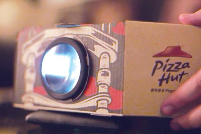 Pizza Hut, Ogilvy & Mather Group Hong Kong Create Pizza Box That Projects Short Films