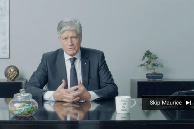 Watch Maurice Lévy Wearing a Wig and Brushing His Teeth