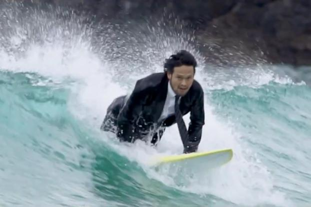 ea14f24ae2 Japanese Salarymen Unleash Their Inner Surfers With Quiksilver s Amazing  Wetsuit