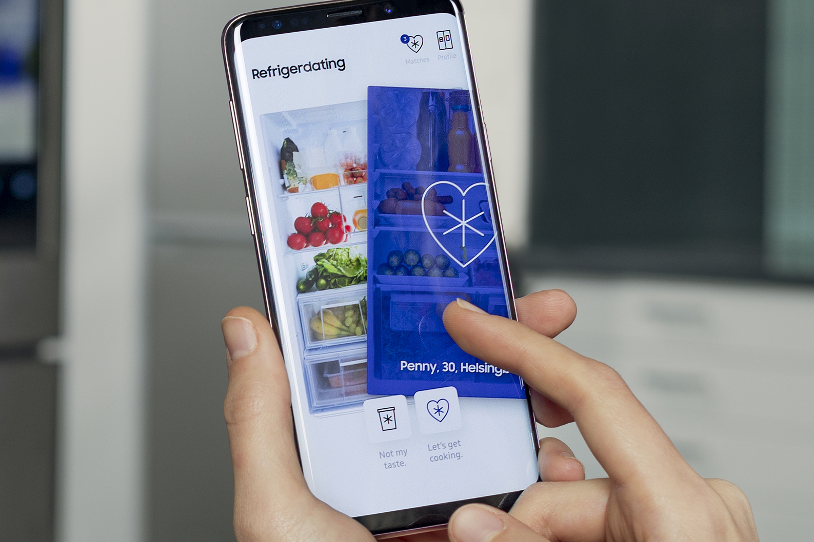 Samsung's dating service lets you swipe right if you fall in love with somebody's fridge