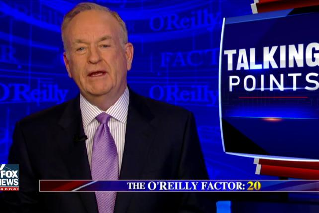 'The O'Reilly Factor' Had Just Seven Advertisers Thursday Night