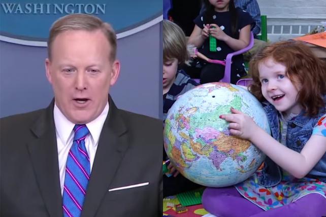 'The Daily Show' Turns Sean Spicer Into 'Kindergarten Press Secretary'