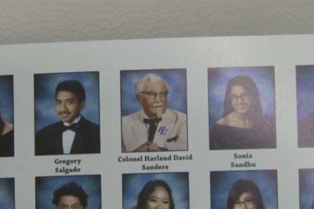 Marketer's Brief: See the KFC Colonel's Yearbook Cameo