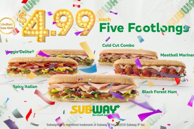 Forget Subway's $5 Footlong, It's $4.99
