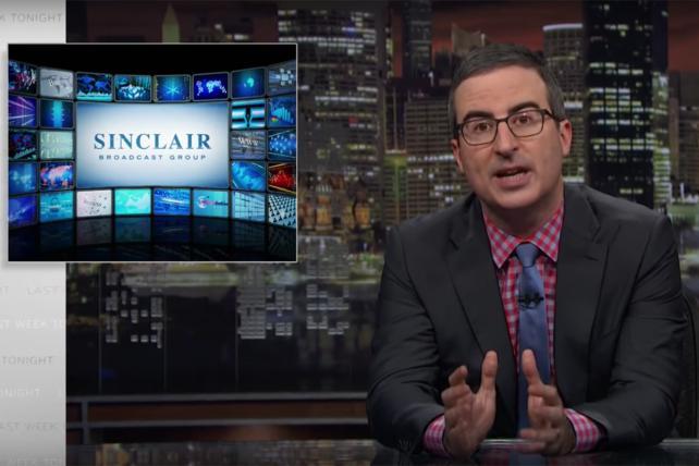 Watch John Oliver explain the Sinclair 'fake news' scandal