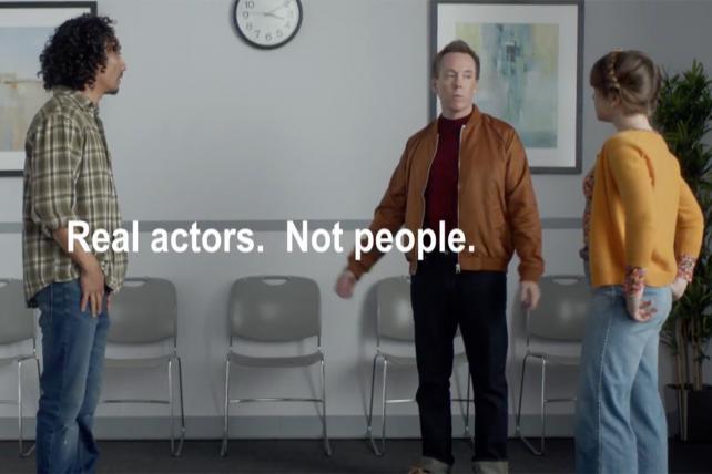 'Real actors. Not people.' Watch Progressive spoof Chevy ads