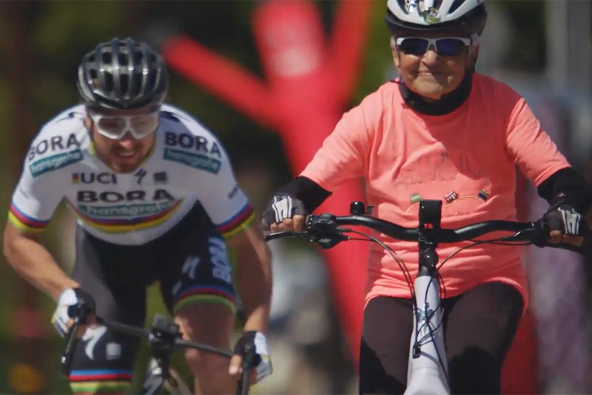 Peter Sagan vs Grandma Joan