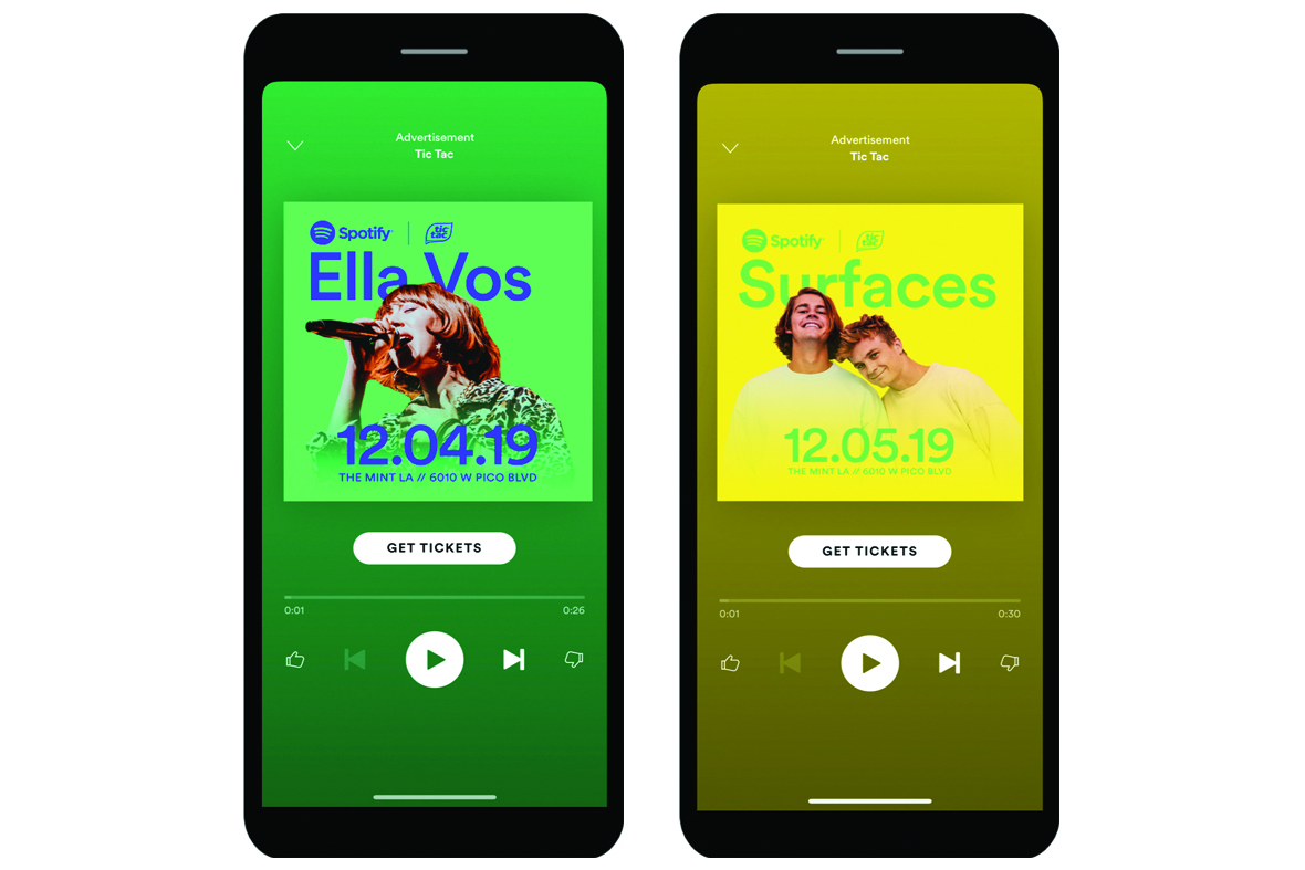 Spotify breaks into branded live events with a Tic Tac immersive experience