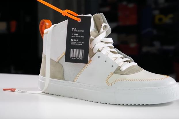 Slave-made' sneakers feature in this unboxing video to