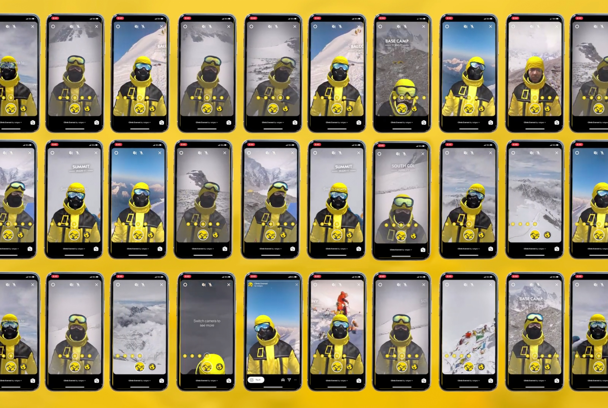 Mount Everest expedition AR filter