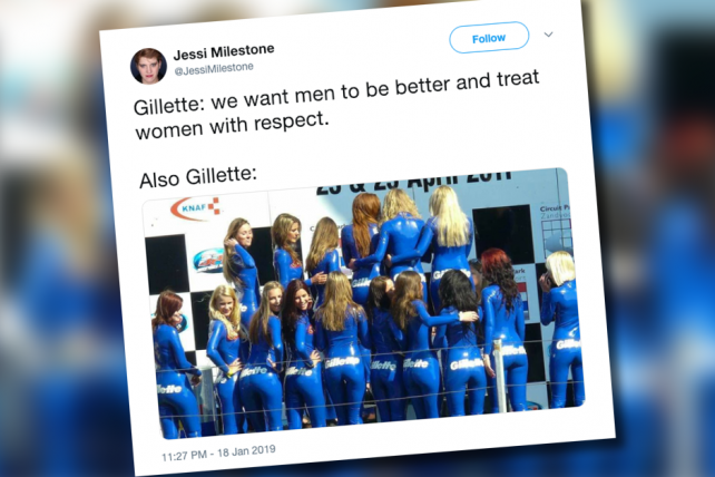 Gillette under social media fire for old promo
