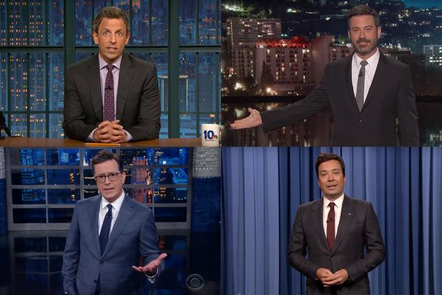 Watch: Who Slammed Trump Hardest? Colbert, Kimmel, Meyers or Fallon?