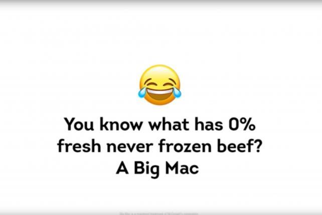 Freezer burn! Wendy's taunts McDonald's over its beef again