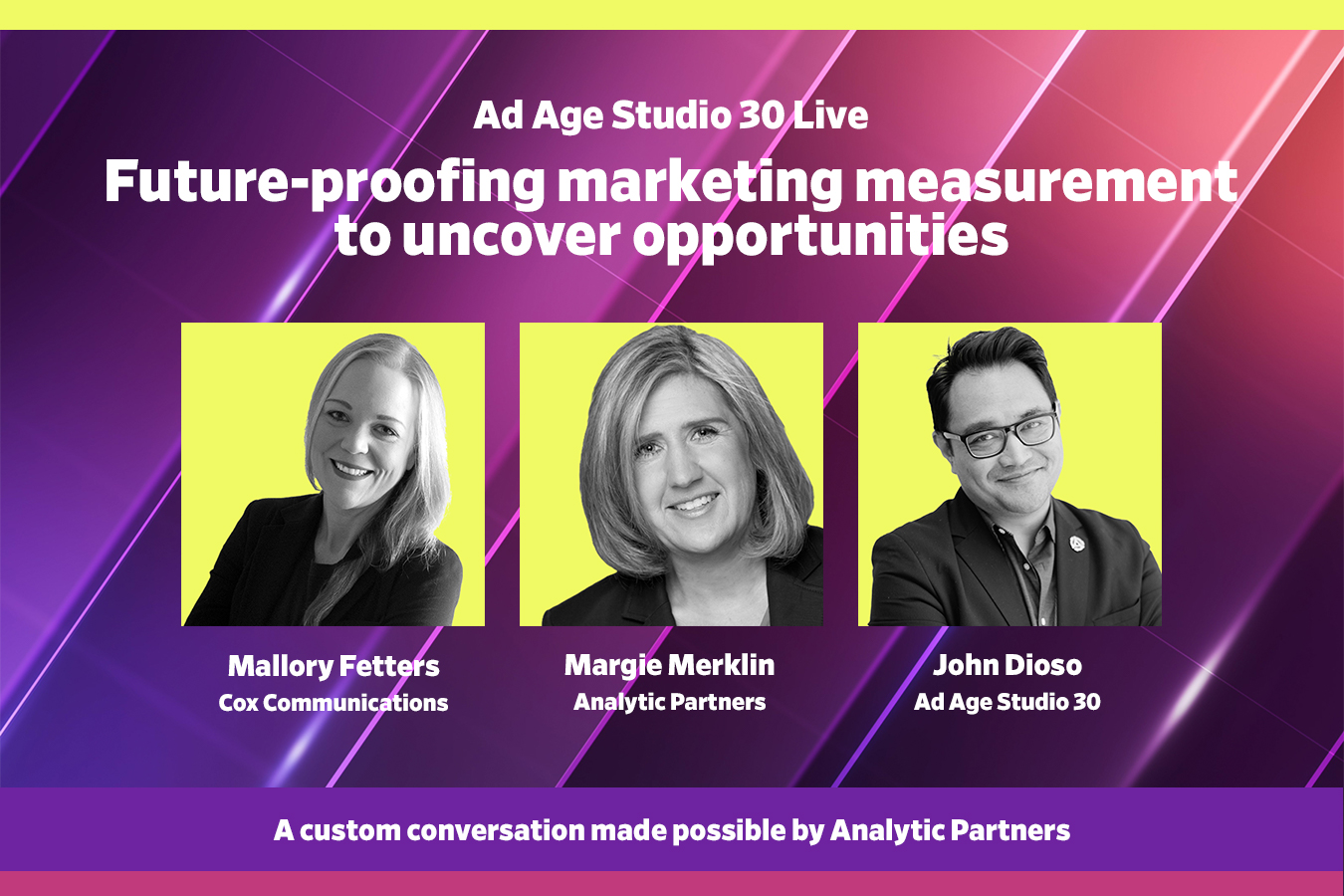Watch live at 12:30 p.m. EDT: Future-proofing marketing measurement to uncover opportunities