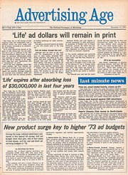 Advertising Age 12-11-1972