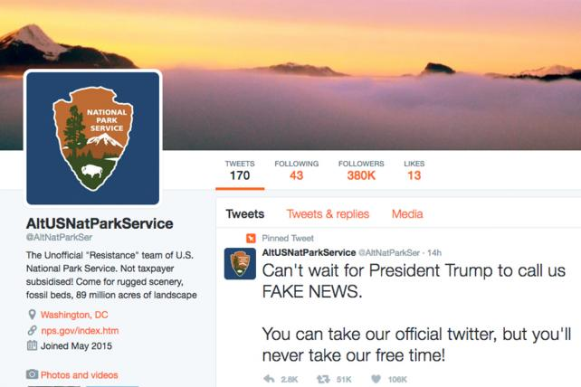 National Park Service Workers Go Rogue on Twitter to Defy Trump