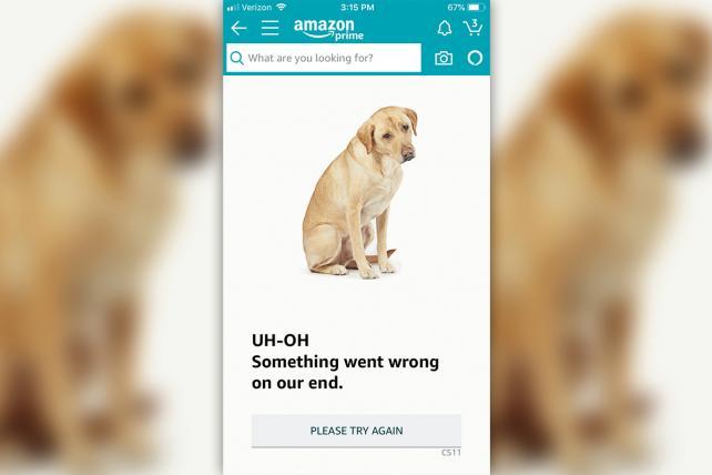 Amazon crashes 10 minutes into Prime Day