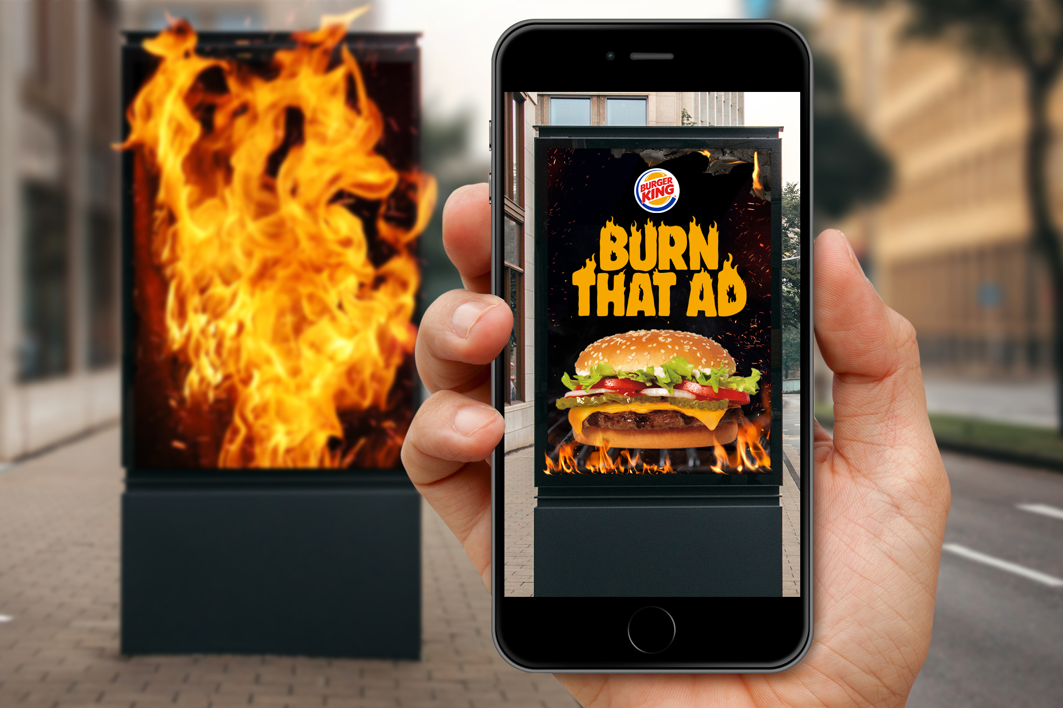 Burger King will give you a free Whopper if you set competitors' ads on 'fire'