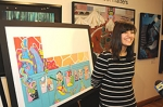 Bank of America Showcases Teen's Artwork