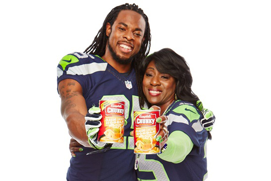 Richard Sherman Dangles From Helicopter in New Chunky ad