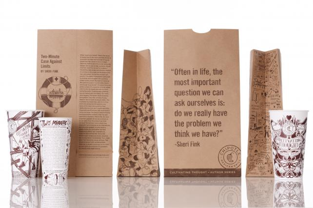 Chipotle Taps Malcolm Gladwell, Jonathan Safran Foer for Essays on Packaging