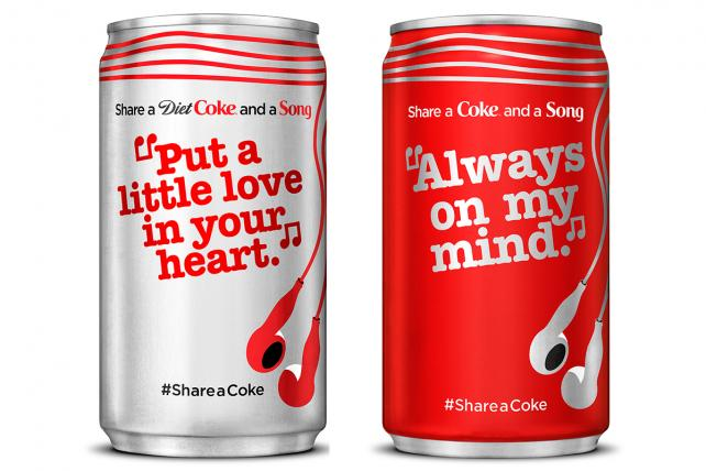 Coke Slaps More Than 70 Song Lyrics on Cans and Bottles