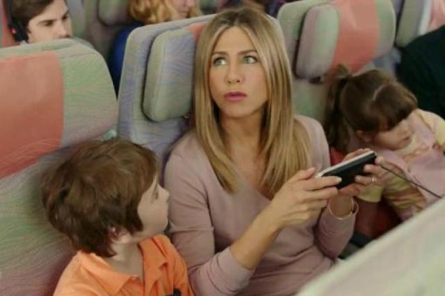 Jennifer Aniston Goes From First Class to Coach in Emirates Spot