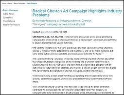 Fake Chevron press release
