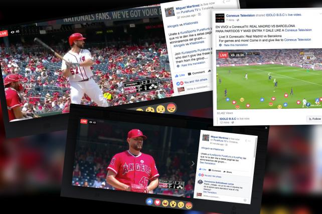 Pirated NFL, MLB Games Proliferate on Facebook Live